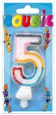 bougie anniversaire chiffre 5