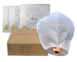 Pack de 50 lanternes volantes blanches pas cher