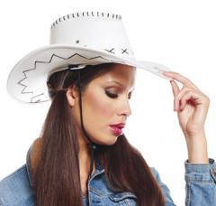 chapeau cowboy texas blanc