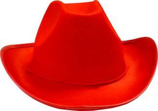 chapeau de cowboy rouge