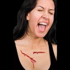 prothese latex plaie ouverte sanglante sur torse