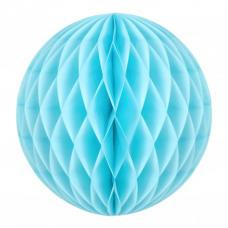 boule papier alveolee bleu dragee