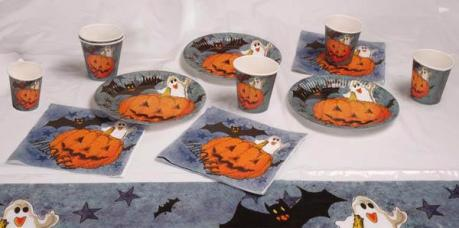 set de table halloween citrouille