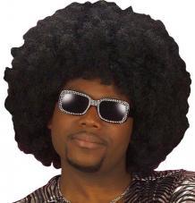 perruque super afro noire