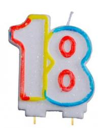 Bougie anniversaire chiffre 18 pas cher