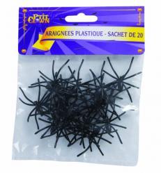 Sachet de 12 araignées noires pas cher