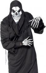 Déguisements Set skull avec cagoule et gants imprimés