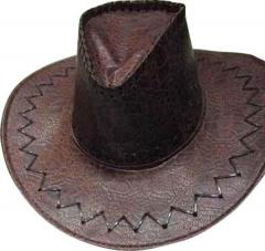 chapeau cowboy croco marron