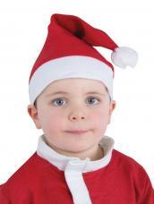 bonnet de pere noel rouge pour enfant