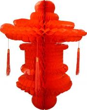 suspension chinoise rouge 80 cm