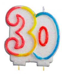 Bougie anniversaire chiffre 30 pas cher