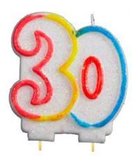 bougie anniversaire chiffre 30