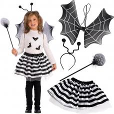 set chauve souris fille Halloween