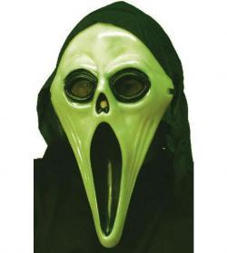 Masque scream phosphorescent avec cagoule