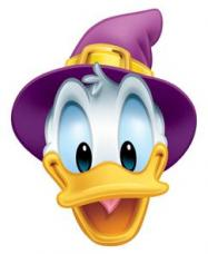 masque donald duck magicien