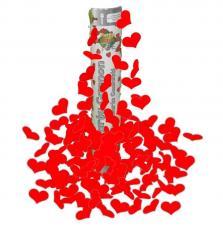 Canon confettis coeurs rouges