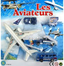 avion de ligne plus vehicules