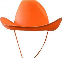 Chapeau de cowboy orange pas cher pour adulte