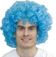 perruque pop bleue super luxe