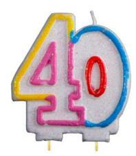 bougie anniversaire chiffre 40