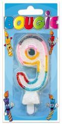 Bougie anniversaire chiffre 9 pas cher