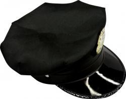 Casquette de police américaine de couleur noir pour adulte