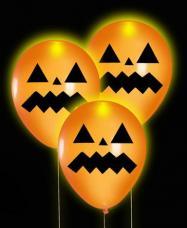 ballons  orange citrouille lumineux halloween