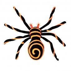 araignée velue avec yeux lumineux