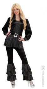 Déguisements Chemise Disco Femme Noir