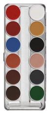 Palette maquillage fard à eau 12 couleurs Kryolan