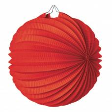lampion rond rouge