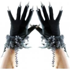 gants halloween avec ongles
