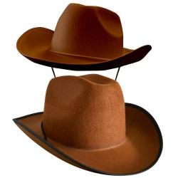 Chapeau de cowboy adulte marron pas cher