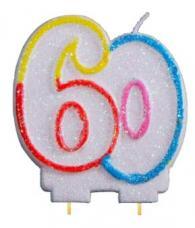 bougie anniversaire chiffre 60