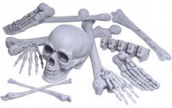 Sac d' os réalistes avec crânes