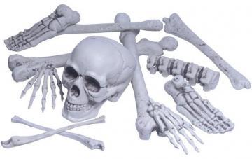sac d' os avec crânes