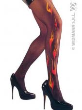 collants noirs decor flammes