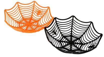 panier à bonbons toile d'araignée