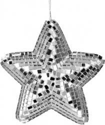 Boule de Noël étoile miroir pas cher