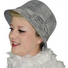 chapeau annee 1920 gris