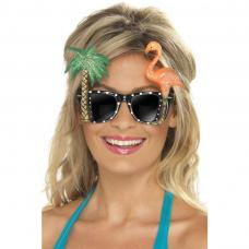 lunette hawaienne palmier flamand rose