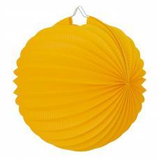 lampion rond jaune moutarde