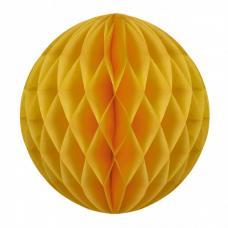 boule papier alveolee jaune moutarde
