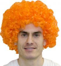 perruque afro pop orange adulte