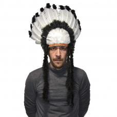 coiffe plumes chef indien nuage noir