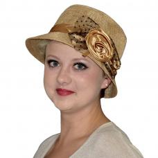 chapeau annee 1920 marron