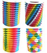 lampion cylindrique 16 centimetres bariole