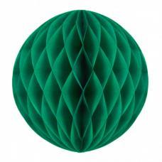 boule papier alveolee vert sapin