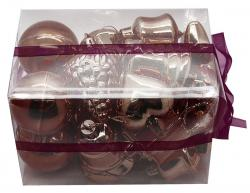 Coffret de 20 décorations de Noël chocolat pas cher