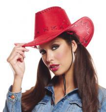 chapeau cowboy texas rouge